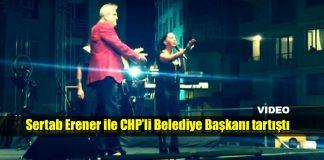 Sertab Erener Çatalca konserinde CHP'li Belediye Başkanı ile tartıştı