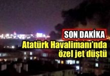 Atatürk Havalimanı özel jet düştü
