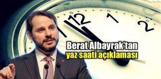 Berat Albayrak yaz saati açıklaması