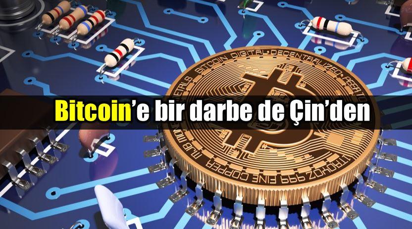 Bitcoin borsasına Çin'den büyük darbe