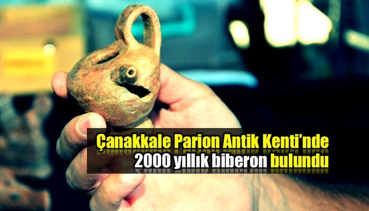 Çanakkale Parion Antik Kenti'nde 2 bin yıllık biberon
