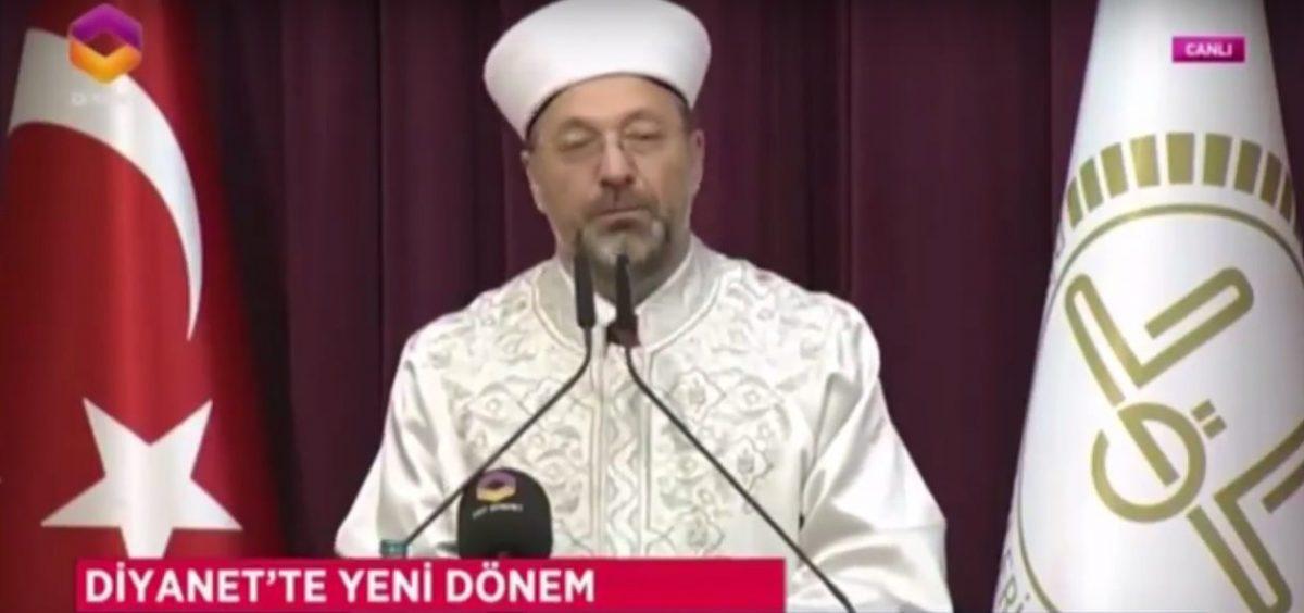 Diyanet İşleri Başkanı Ali Erbaş'ın görevde ilk konuşması