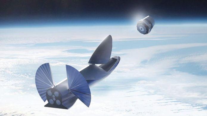 elon musk yörüngede roket ile yolculuk