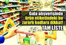 Gıda alışverişinde ürün etiketindeki bu kodlara dikkat!