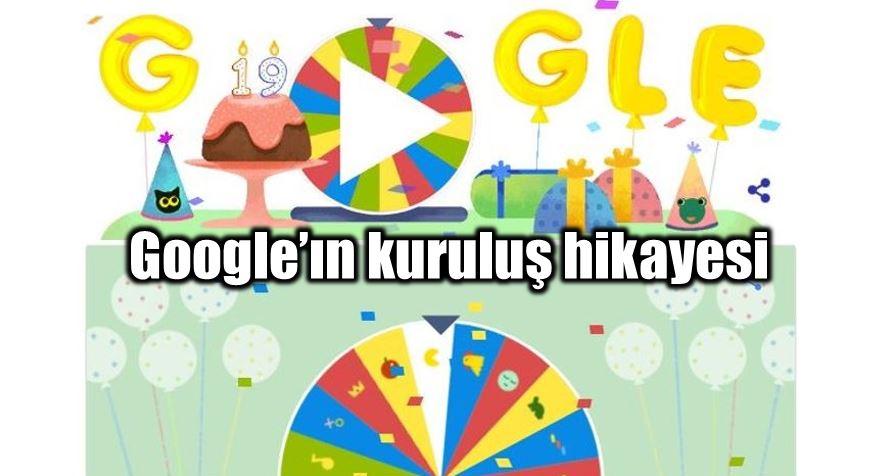 Google'ın doğum günü çarkıfeleği