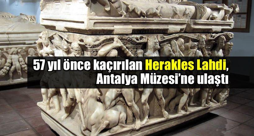 Herakles Lahdi Antalya Müzesi'ne getirildi