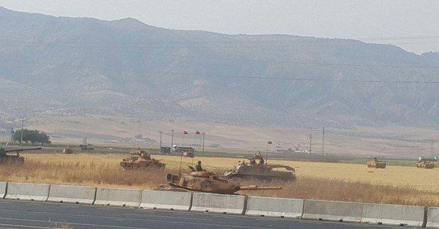 Irak kürdistan referandum tsk tatbikat tanklar habur