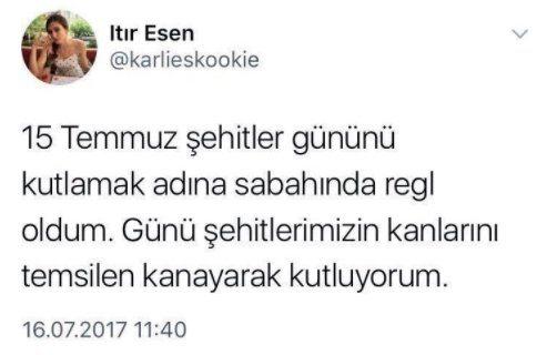 miss turkey birincisi ıtır esen 15 temmuz tweetleri