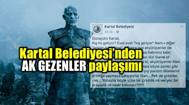 Kartal Belediyesi Akgezenler ak yürüyenler paylaşımı tartışma yarattı