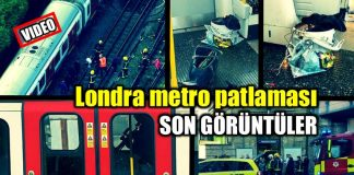 Londra metro patlaması son görüntüler