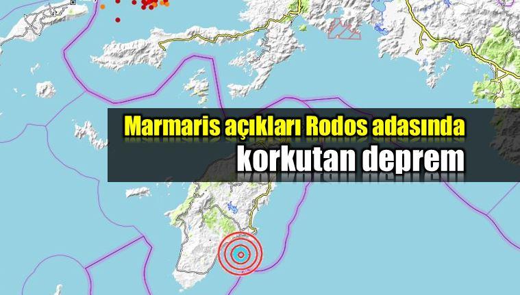 Marmaris açıkları Rodos Adası deprem