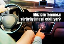 hızlı müzik ile araba kullanmak sürücü tempo ritim