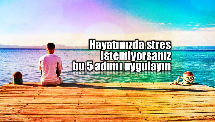 Stres yönetimi için bu 5 adımı uygulayın!