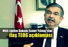 TEOG kaldırıldı: Milli Eğitim Bakanı İsmet Yılmaz açıkladı