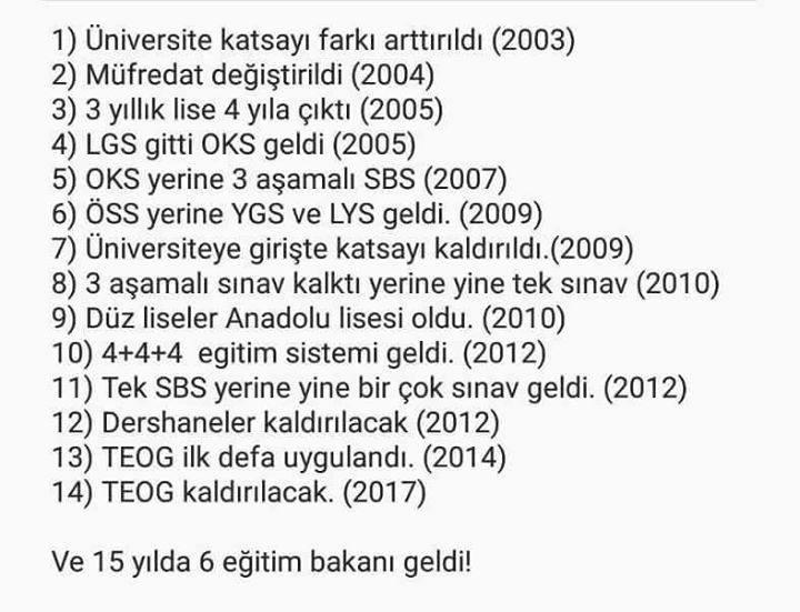 türkiye sınav sistemi eğitim