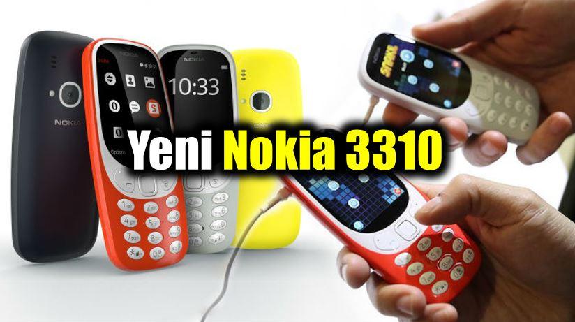 Nokia 3310 efsanesi geri döndü! Özellikleri ve fiyatı