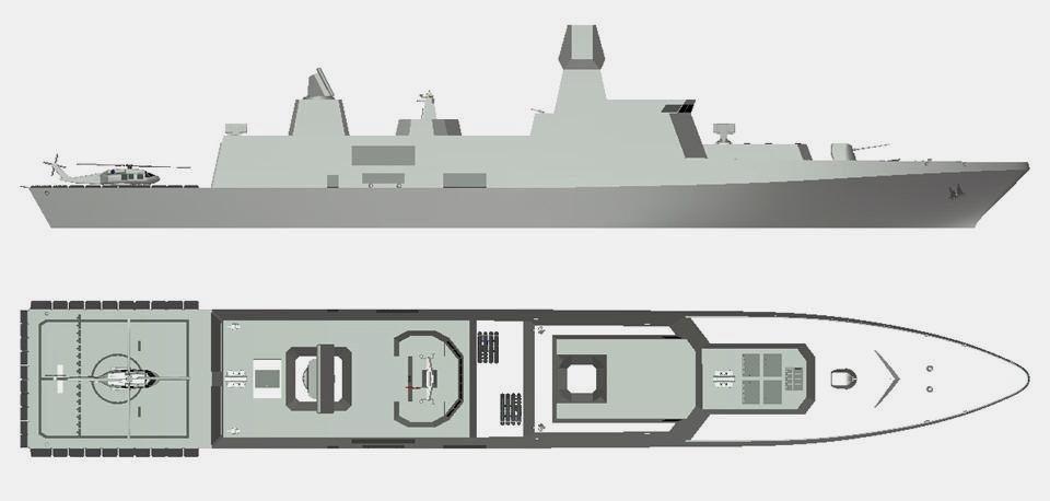 TF-2000 Hava Savunma Harbi Fırkateyni Konsept Tasarım
