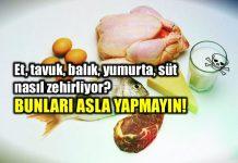 Besin zehirlenmesi: Et tavuk balık yumurta süt nasıl zehirler?