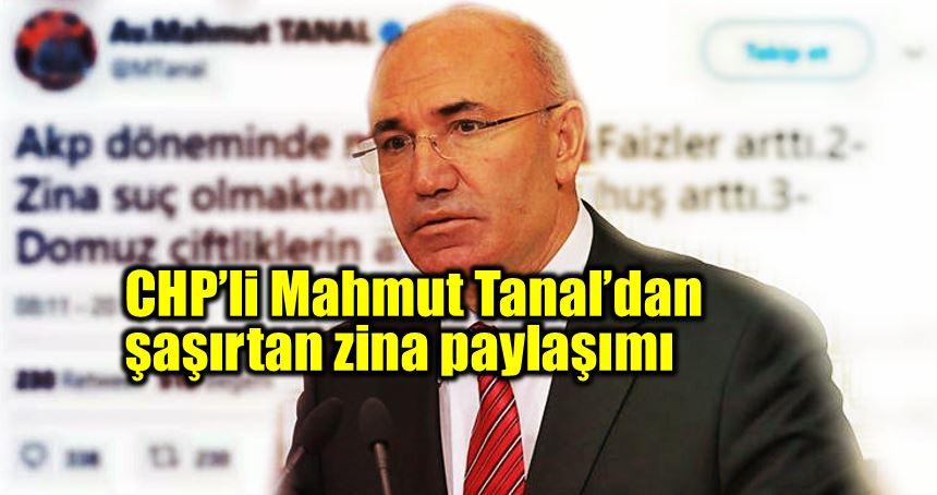 CHP Mahmut Tanal şaşırtan zina paylaşımı
