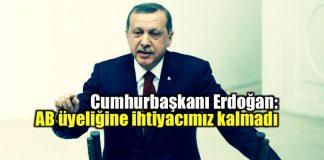 Cumhurbaşkanı Erdoğan: AB üyeliğine ihtiyacımız kalmadı