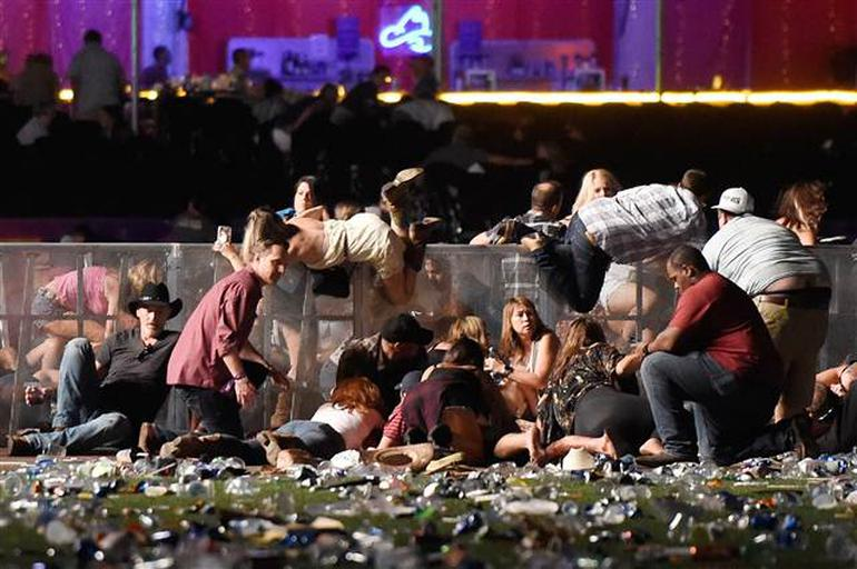 Las Vegas saldırı anı görüntüleri