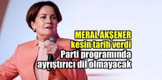 Meral Akşener yeni parti için kesin tarih verdi