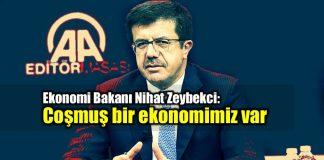 Nihat Zeybekci: Coşmuş bir ekonomimiz var