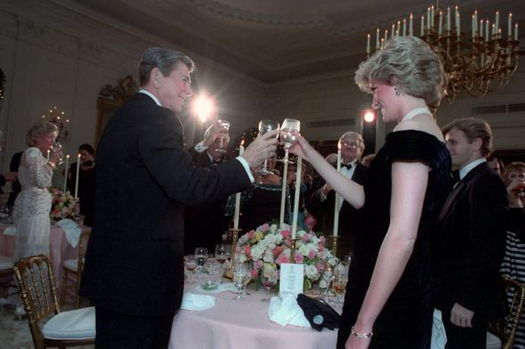 ronald reagan princess lady diana