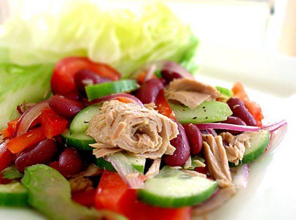 ton balığı köfte salatası