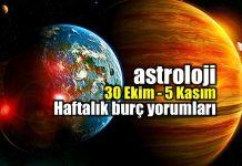 Astroloji: 30 Ekim 5 Kasım haftalık burç yorumları