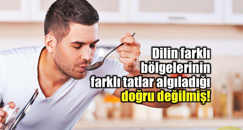 Dilin farklı bölgelerinin farklı tatlar algıladığı doğru değilmiş!