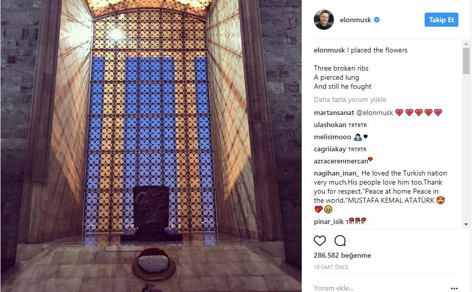 Elon Musk Anıtkabir'de