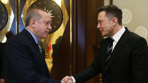 Cumhurbaşkanı Erdoğan, dünyanın en ünlü iş insanları arasında olan Elon Musk'ı kabul etti