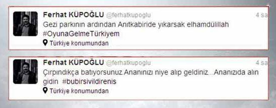 ferhat küpoğlu Taksim Gezi Parkı'ndan sonraAnıtkabir'i deyıkarızelhamdülillah