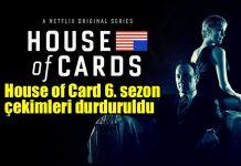 House of Cards 6. sezon çekimleri durduruldu kevin spacey