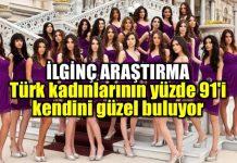 Türk kadınlarının yüzde 91'i kendini güzel buluyor