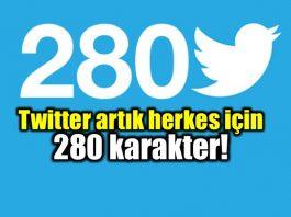 Twitter artık herkes için 280 karakter!