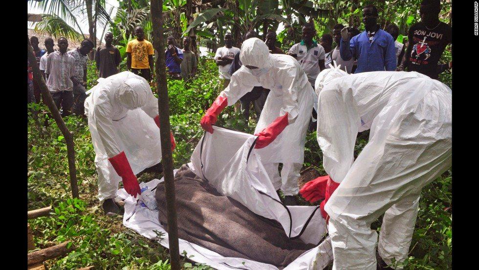 2014 yılındaki Ebola salgınından bir kare