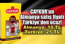Çaykur Almanya çay satış fiyatı Türkiye den ucuz