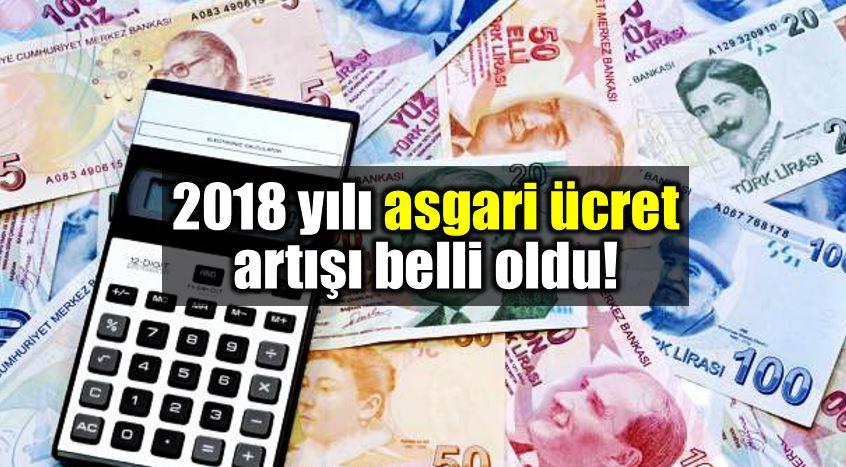 Asgari ücret 2018 yılında 1603 TL net brüt yükseldi