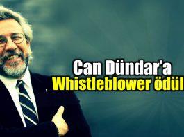 Can Dündar Almanya Whistleblower ödülü