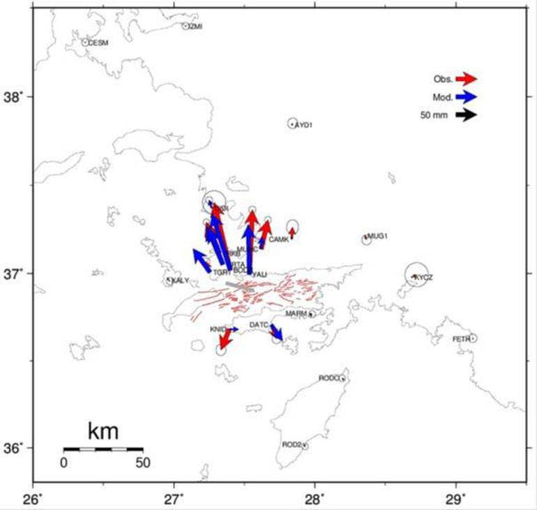 deniz tabanı yırtık yırtılma haritası bodrum deprem