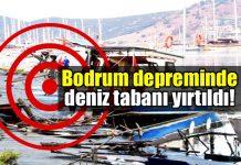 Çarpıcı deprem raporu: Bodrum deniz tabanı yırtıldı!
