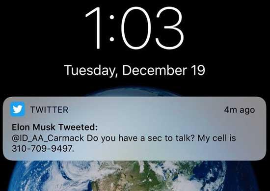 Elon Musk telefon numarasını yanlışlıkla Twitter'da paylaştı