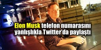 Elon Musk telefon numarasını yanlışlıkla Twitter paylaştı