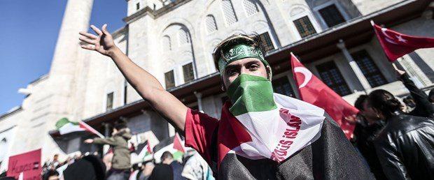 fatih camii kudüs protestosu