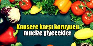 Kanser hastalıklarından koruyan yiyecekler