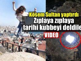 Kösem Sultan yaptırdığı Büyük Valide Han kubbesi zarar gördü delindi