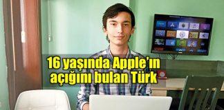 Yiğit Can Yılmaz: 16 yaşında Apple'ın açığını bulan Türk