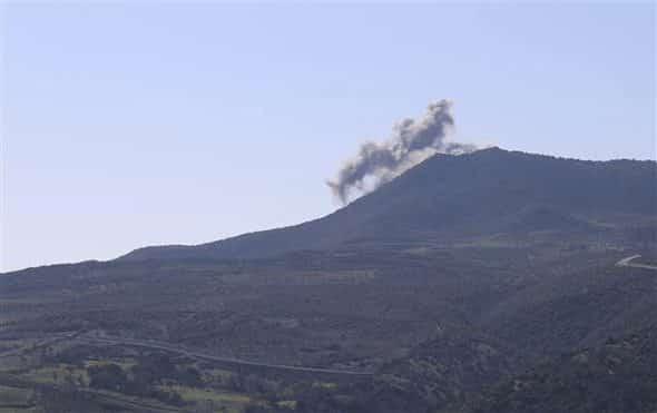 Afrin Harekatı: Burseya Dağı'na TSK tarafından yapılan bombardıman görüntüleri